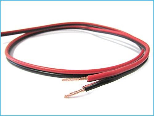 Kabel plat rood zwart 2 x 1 qmm voor elektrische kabel luidspreker stereo audio luidspreker luidspreker luidspreker luidspreker luidspreker 1 meter