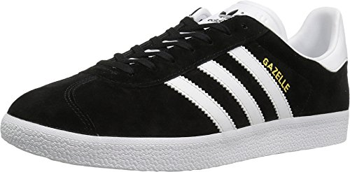 Adidas Originals Men's Gazelle Lace-up Sneaker,Black/White/Gold Met.,10 M US