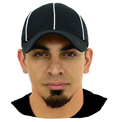 Mato & Hash Official Referee Hats   Structured Adjustable Hats for Umpires,Referees,and Officials - Adjustable Black/White CA2099 L/XL