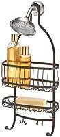 "iDesign 61971 York Lyra Hanging Shower Organizer - 10"" x 4"" x 22"", Bronze"