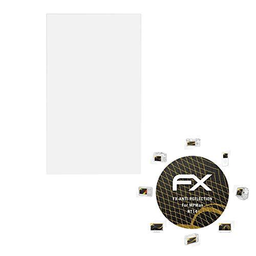 atFolix Panzerfolie kompatibel mit MPMan NT14 Schutzfolie, entspiegelnde & stoßdämpfende FX Folie (2X)