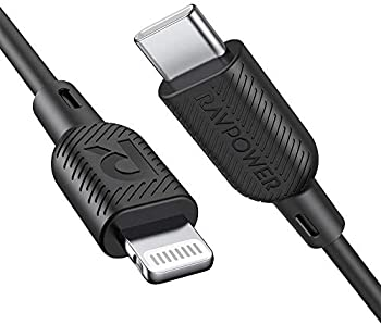 RAVPower 3ft Mfi Certified USB-C to Lightning Cable