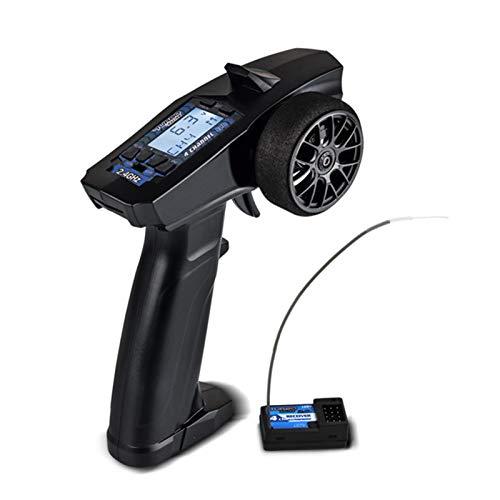 NHBETYS P32 Turbo Racing 91803G-C 2.4G 4CH RC Radio Sistema Transmisor y Receptor, Pantalla LCD Radio Transmisor Mando a distancia, Mini diseño, adecuado para niños a jugar
