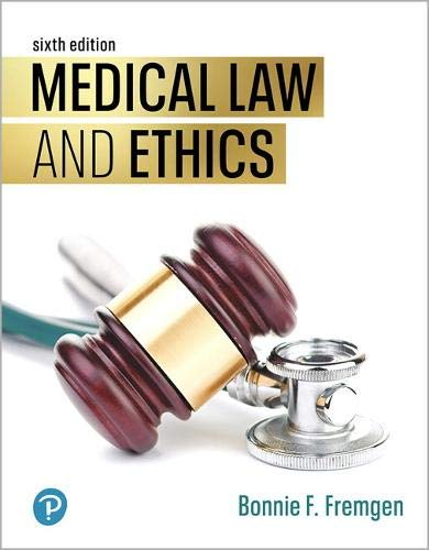 Compare Textbook Prices for MyLab Health Professions -- Print Offer -- for Medical Law and Ethics 6 Edition ISBN 9780135414408 by Fremgen, Bonnie F.