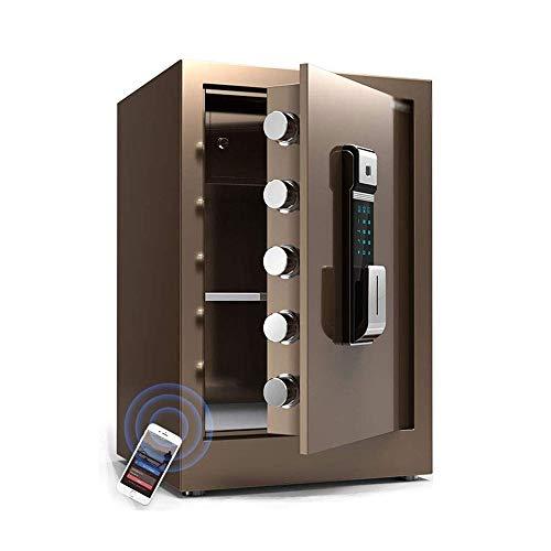 CHUXJ Caja de seguridad, Caja de seguridad, huellas dactilares contraseña caja fuerte electrónica, caja de la cerradura a prueba de fuego, a prueba de fuego caja, caja de dinero - for la joyería diner