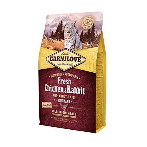 Carnilove Trockenfutter für Katzen, Huhn und Kaninchen, 2 kg