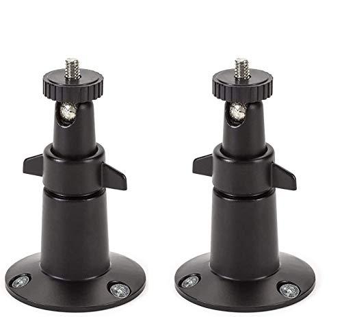 Wasserstein 4897080220451 Schwarz Verstellbare Indoor/Outdoor Security Metall Wandhalterung Pro 2, Arlo Ultra und andere kompatible Modelle (2 Stück)
