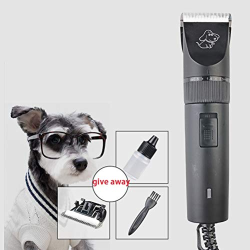 MC.PIG Hondentondeuse - Professionele Pet Grooming Clippers Kit, Oplaadbare Pet Clippers Kit Geluidsarm Usb Opladen Draadloze Hond Tondeuses Trimmer Set