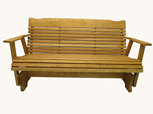 5 Foot Cedar Porch Glider, Stained Finish, Amish Crafted