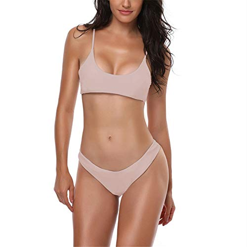 Traje de baño y bañadores de mujer de color sólido bikini moda señoras D S