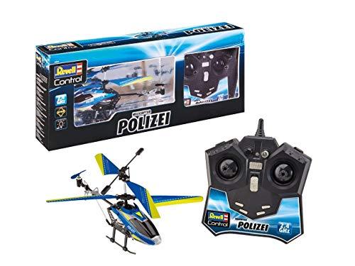 Revell Control 23827 RC Helicopter in modern politie-design op afstand bestuurde heli, blauw
