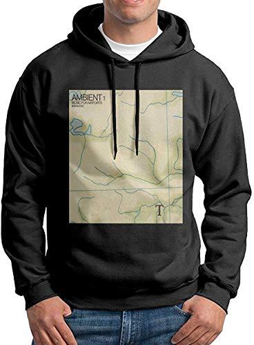 ブライアン・イーノ-アンビエント1-空港の音楽メンズプルオーバーフード付きスウェットシャツM