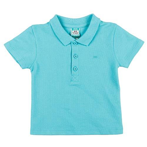 Top Top CURVATO Camisa de Polo, Turquesa, 12-18 Unisex bebé