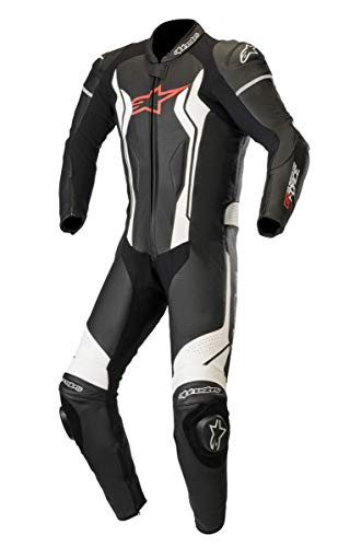 Alpinestars GP Force Tuta in pelle moto di One Piece Nero/Bianco 48