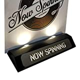Now Spinning Record Stand Vinyl Illuminated LED Display (Black)