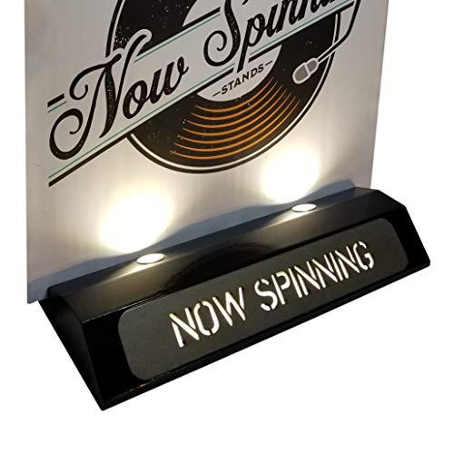 Now Spinning Display Stands Soporte de exhibición de Discos de Vinilo