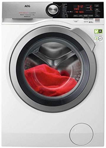 AEG L8FEC962Q Waschmaschine, Frontlader, 9 kg/1600 U/min, Serie 8000, AutoDose, Inverter-Motor, Dampffunktion, Schnellprogramm, LCD, WLAN, Tür XL, silberfarben, Weiß A+++