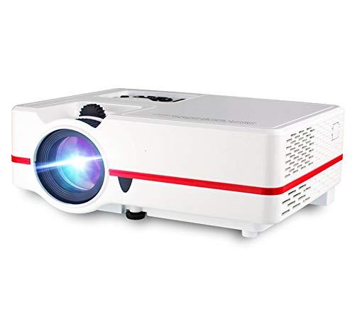 YZXZM Proyector LCD 4K Mini proyector LED 2000 lúmenes Resolución 1280 * 800 Full HD portátil de Cine en casa Teatro Soporte