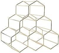 WINEFAN CS-WINワインラックワインウイスキー展示棚メタル6ボトルマウントキッチンワインボトルホルダーオーガナイザーワイン愛好家ホルダースタンド(カラー:ゴールド) (Color : Rose Gold, Size : -)