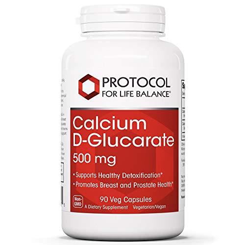 Protocol For Life Balance - Calcium D Glucarate 500mg - Supports Healthy Detoxification, Promotes Liver Detox, Breast, Colon and Prostate Health - 90 Vegetable Capsules