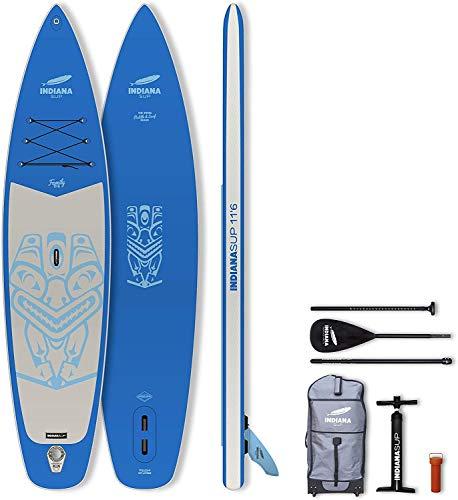 INDIANA Paddle & Surf Indiana Sup Inflatable Board Touring Placa Hinchable, Unisex Adulto, Azul, 12' 0''/ 366 cm