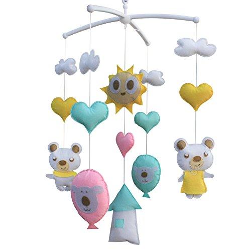 Lit bébé Mobile musical, [Go Randonnée] jouets suspendus [Sunshine Day]