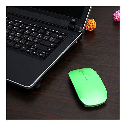 L-yxing obra de arte El mouse ocular inalámbrico ultra delgado de 2.4GHz con adaptador USB PC Mouse Mouse es adecuado para todos los portátiles de la computadora Radio Mouse Llaves de alta durabilidad