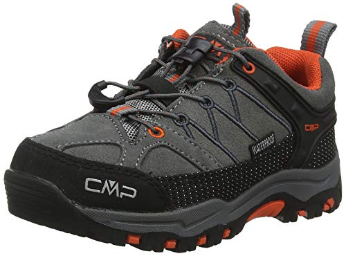 CMP Unisex-Kinder Kids Rigel Low Shoes Wp Trekking- & Wanderhalbschuhe, Grau (Stone-Orange 78uc), 37 EU