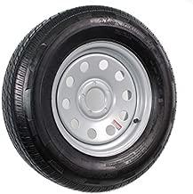 Radial Trailer Tire On Rim ST205/75R15 205/75-15 5 Lug Wheel Gray Grey Modular