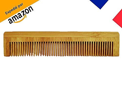 BamBouDent, pettine per capelli e barba per uomini, donne o neonati, in legno di bambù naturale ed ecologico