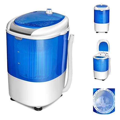 COSTWAY Mini Machine à Laver avec Essoreuse à Cuve Unique 2,5 KG Portable Semi Automatique avec Fonction de Chronométrage pour Appartement,Hôtel et Dortoir