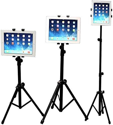 Yihiro ipad スタンド 三脚式 タブレットPC (iPad・iPad mini・iPad 2) 固定用スタンド 高さ調節可 折り畳み可 360度回転 写真撮影に 収納袋付き 固定ホルダーセット