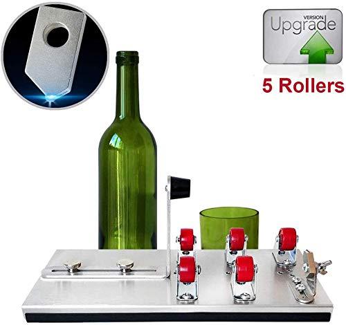 Glazen flessen snijmachine voor alle soorten flessen Metal Upgrade Versie 5 rollen Precise, snijgereedschap kit voor doe-projecten 2cm-20cm