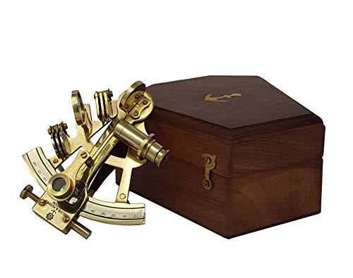 Brass Nautical Kaufen Sie Marine Navigation Antik Navigation Sextant - Mit Holzbox