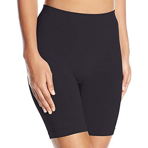 Vassarette Women's Comfortably Smooth Slip Short Panty 12674, Black Sable, 3X-Large/10