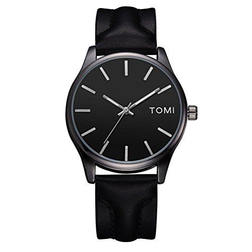 Reloj de pulsera para mujer de TOMI, de estilo sencillo, de moda, analógico, correa de poliuretano de calidad