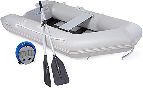 DARTMOOR Bote Hinchable para Adultos Capacidad 300KG Barca Hinchable para Pesca 230X130X33CM Bote Inflable con Remo para 2 Personas (230X130X33CM)