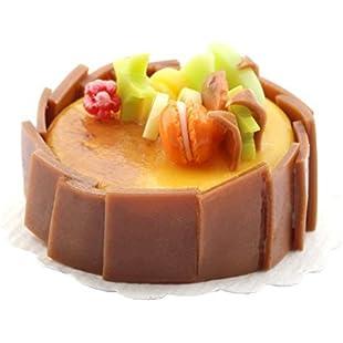 MyTinyWorld Dolls House Miniature Handmade Caramel Cake With Chocolate Squares:Interoot
