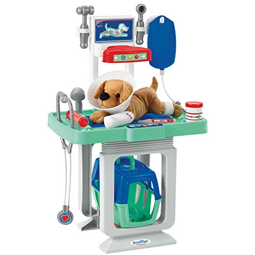 Ecoiffier - Centro veterinario incluye perro de peluche con muchos accesorios (Ecoiffier...