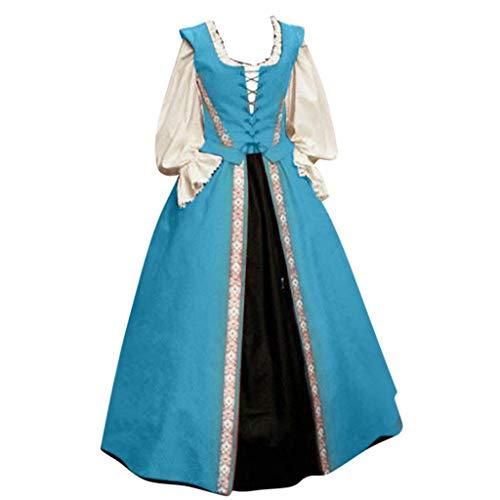 Mittelalterliches Kostüm Women Lange Ärmel Renaissance-Kleid Piebo Frauen Mittelalter Kleidung Damen Steam Punk Gothic Kleid Lange Kleider Karneval Party Kleid Cosplay Kostüm Streetwear