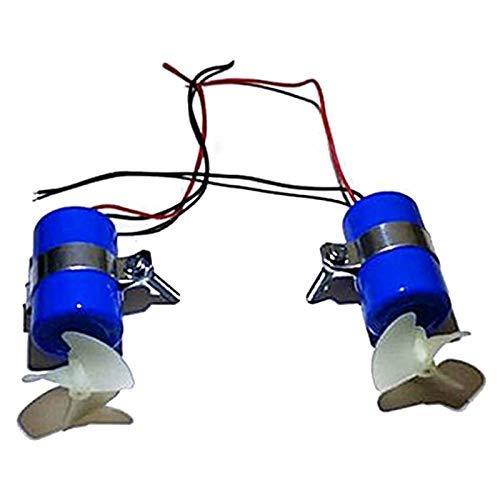 DNKKQ Accessori di qualità 1Pair RC Jet Boat Motore subacqueo Propulsore 7.4V 16800 RPM CW CCW 3 Pale Elica per Fai da Te ROV Robot RC Esca