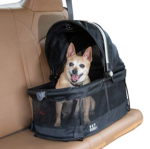 Pet Gear View 360 Pet Carrier & Car Seat for Small Dogs & Cats with Mesh Ventilation for Easy...