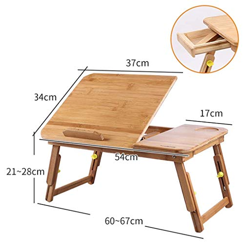 Verstellbarer Laptop-Tisch, tragbarer Stehbett-Schreibtisch, faltbares Sofa-Frühstückstablett, Notebook-Lesehalter für Couch-Teppich