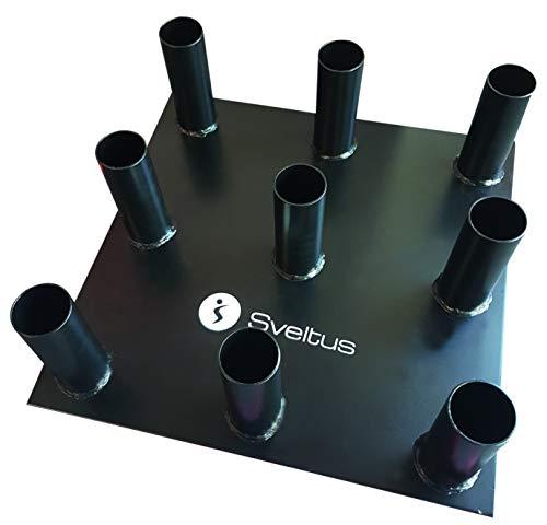 Sveltus - Barras para Barras Olympique Unisex, Color Negro