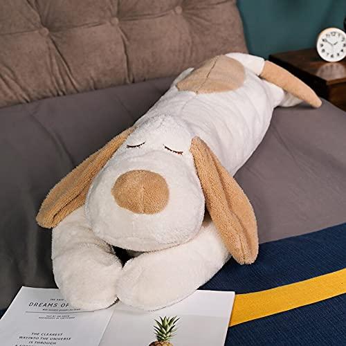 100cm-130cm Lindo Perro de Felpa Almohada de Felpa Lindo Kawaii Animal muñeca Suave Juguete de Peluche bebé durmiendo muñeca Regalo de cumpleaños Regalo para niños 100CM Blanco