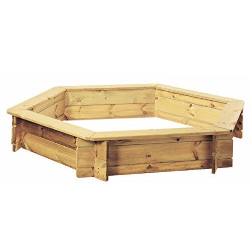 TraumGarten Sandkasten Ingar | 6-eckig | Steck-Bausatz Ø ca. 192 cm | für Kinder von 1 - 14 Jahren
