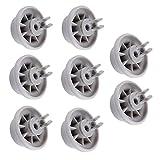Poweka Roulettes pour lave-vaisselle 8/roues pour Roues de Panier de lave-vaisselle pour Bosch/Siemens/Neff/Constructa – Compatible avec numéro de la pièce 00165314/165314