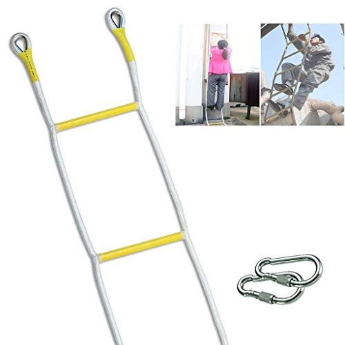 WSJ Echelle d'urgence avec 2 crochets, escalade haute altitude en polyester antidérapant résistant à l'usure (taille : 10 m), 29m/95ft