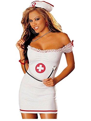 Boowhol-Ropa interior Sexy Ladies lace Enfermera Untacin rol jugando babydoll