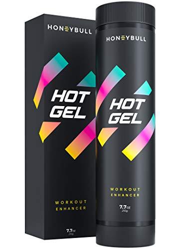 HoneyBull Hot Gel (7.7 oz) Workout Enhancer to Sweat More at Gym & Cardio